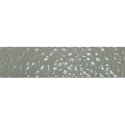 "Cubale 3"" x 12"" Glass Mosaic Tile in Linen"