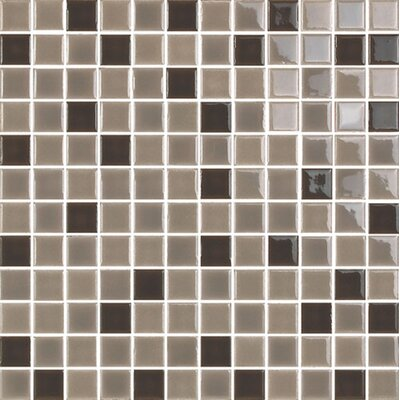 "New Blendz 1"" x 1"" Glass Mosaic Tile in Chocolate"