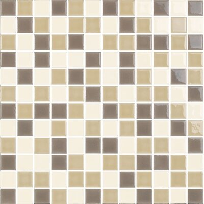 "New Blendz 1"" x 1"" Glass Mosaic Tile in Caramel"