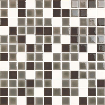 "New Blendz 1"" x 1"" Glass Mosaic Tile in Vanilla Bean"