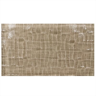 "Grid Textured 6"" x 3"" Glass Field Tile in Brown"