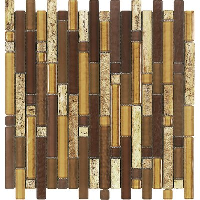 Epoch Architectural Surfaces Varietals Aligote Random Sized Stone and Glass Mosaic Tile in Brown