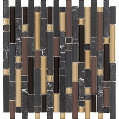 Epoch Architectural Surfaces Varietals Pinot Noir Random Sized Stone and Glass Mosaic Tile in Multi