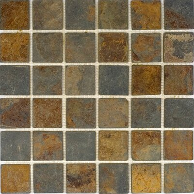 "2"" x 2"" Slate Mosaic Tile in Sunsets"