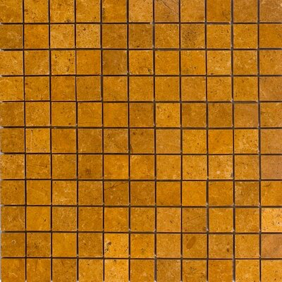 "1"" x 1"" Marble Mosaic Tile in Inca Gold"