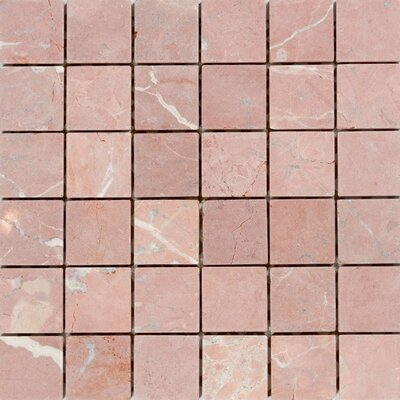 "2"" x 2"" Marble Mosaic Tile in Honed Red"