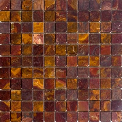 "1"" x 1"" Onyx Mosaic Tile in Red"