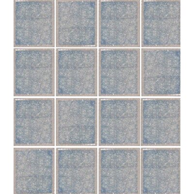 "Oceanz 3"" x 3"" Glass Mosaic Tile in Blue"