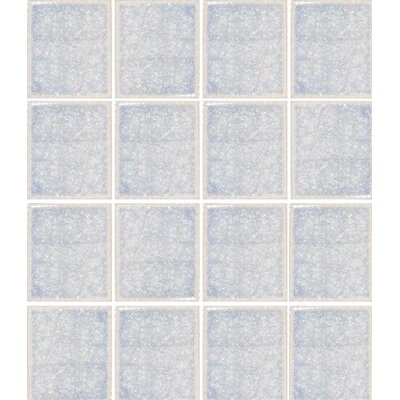 "Oceanz 3"" x 3"" Glass Mosaic Tile in White"