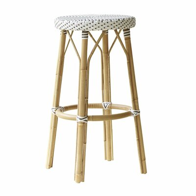 "Affaire 30.7"" Bar Stool Color: White with Cappuccino Dots"