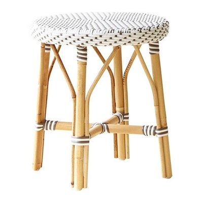 Affaire 18.1'' Bar Stool Color: White with Cappuccino Dots