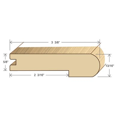 """Moldings Online 0.81"""" x 3.38"""" x 78"""" Red Oak Stair Nose"""
