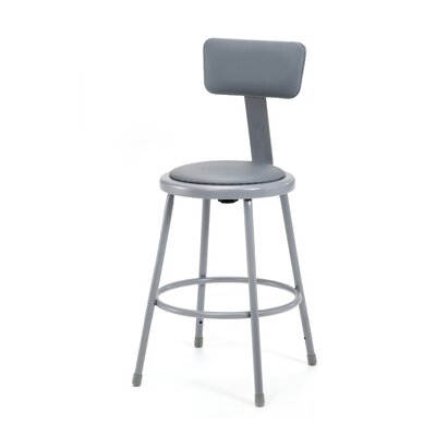 Stool with Adjustable Backrest Size: 24""