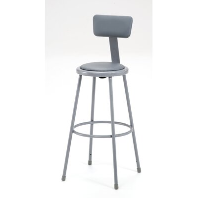 Stool with Adjustable Backrest Size: 30""