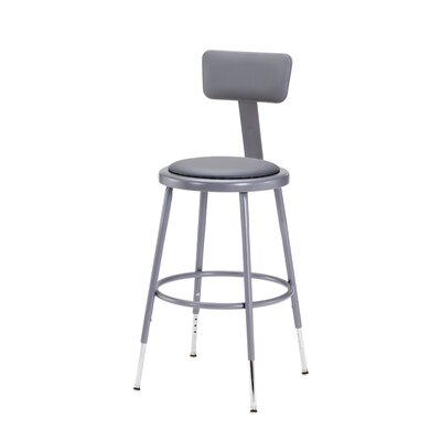 Height Adjustable Stool with Adjustable Backrest Size: 25""