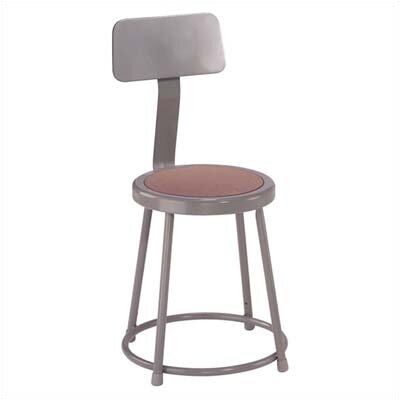 Stool with Backrest Size: 18""