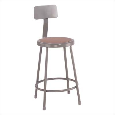 Stool with Backrest Size: 24""