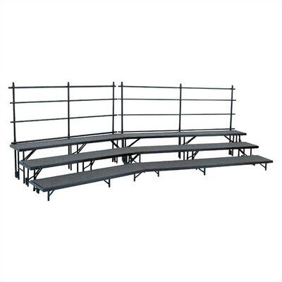 National Public Seating Tapered Standing Choral Riser Set in Hardboard