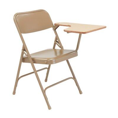5200 Series Steel Folding Chair with Tablet Arm (Set of 2) Color: Beige/Oak Left