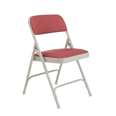 2200 Series Upholstered Folding Chair (Set of 4) Color: Cabernet/Gray Frame