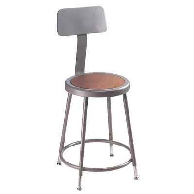Height Adjustable Stool with Backrest Size: 18""