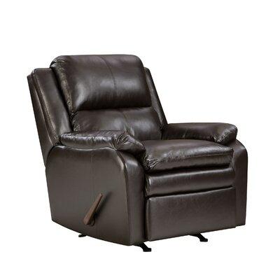 Simmons Upholstery Soho Bonded Leather Rocker Recliner