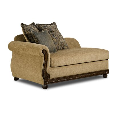 Bridgette Chaise Lounge by Simmons Upholstery Upholstery: Antique