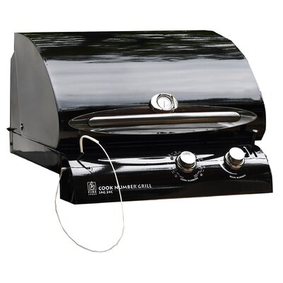 """The Outdoor GreatRoom Company 24"""" Cook Number Black Porcelain Gas Grill Head"""