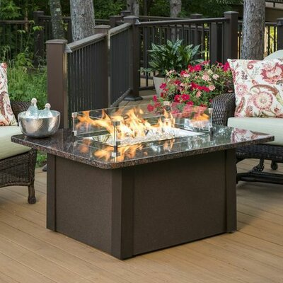 Grandstone Crystal Fire Pit Table Color: Brown