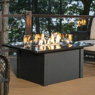 Grandstone Crystal Fire Pit Table Color: Black