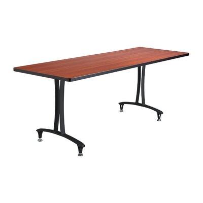 Rumba Rectangular Conference Table Base Finish: Black, Top Finish: Cherry, Size: 6' L