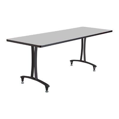 Rumba Rectangular Conference Table Base Finish: Black, Top Finish: Gray, Size: 6' L