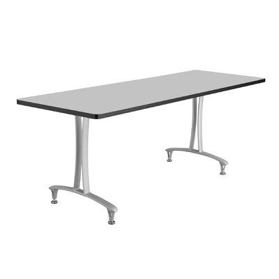 Rumba Rectangular Conference Table Base Finish: Metallic Gray, Top Finish: Gray, Size: 6' L