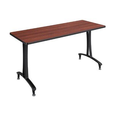 Rumba Rectangular Conference Table Base Finish: Black, Top Finish: Cherry, Size: 5' L