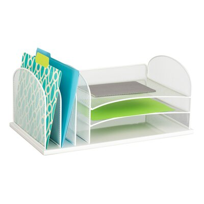 Mesh Desktop Organizer Color: White