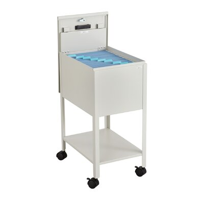 Standard Mobile Letter Size Tub File Cart with Lock