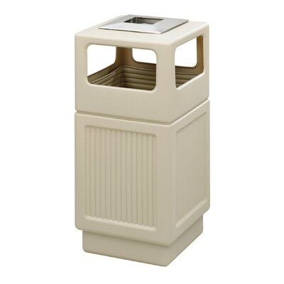 Safco Products Company Canmeleon 38-Gal Ash/Trash Square Receptacle