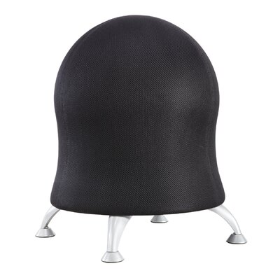 Alice Exercise Ball Chair Upholstery: Black