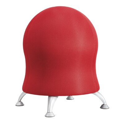 Alice Exercise Ball Chair Upholstery: Crimson
