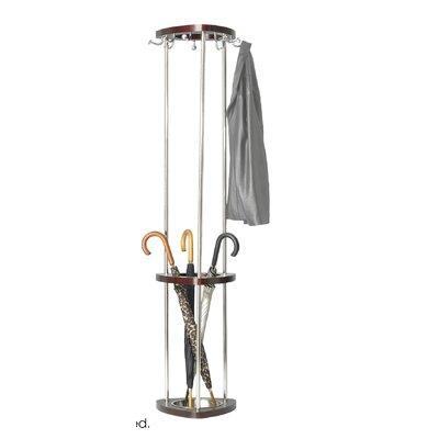Mode Wood Coat Rack with Umbrella Rack Finish: Mahogany