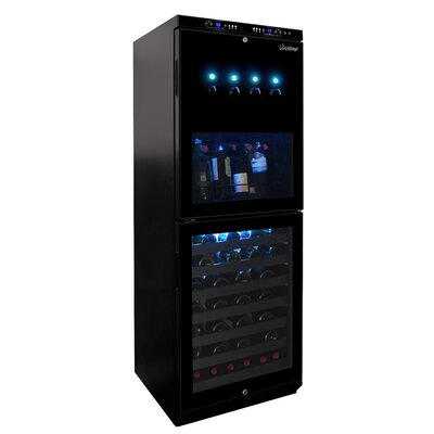 88 Bottle Dual Zone Convertible Wine Cooler