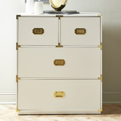 Loren 4 Drawer Chest Color: White