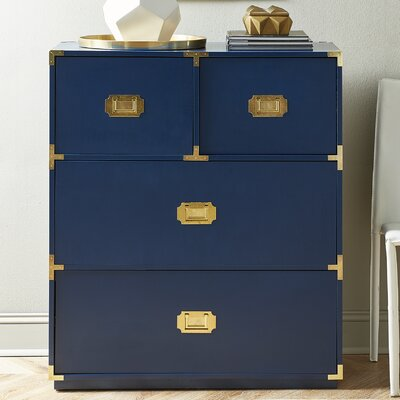 Loren 4 Drawer Chest Color: Navy
