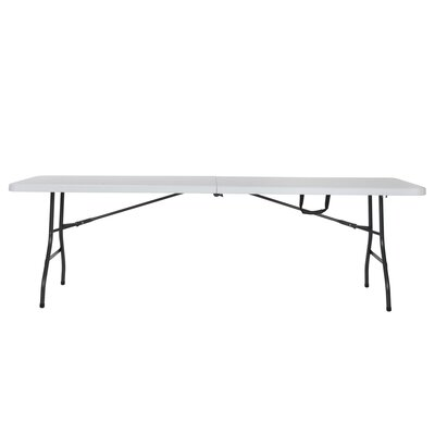 "Deluxe 96"" Rectangular Folding Table Finish: White"