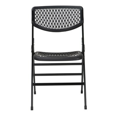 Commercial Resin Metal Folding Chair Finish: Black