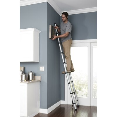SmartClose Telescoping 12 ft Aluminum Extension Ladder with 300 lb. Load Capacity