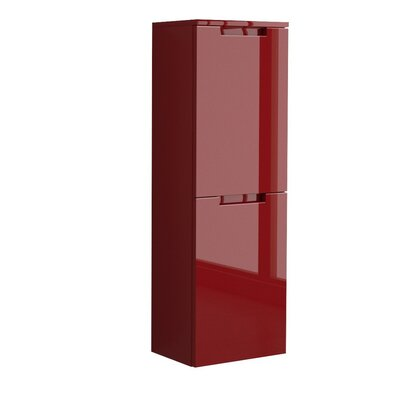 "Oasi 14.18"" W x 41.67"" H Wall Mounted Cabinet Finish: Red"