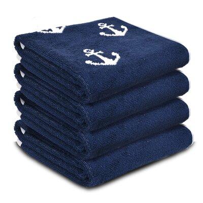 Radburn 4 Piece 100% Cotton Fingertip Towel Set