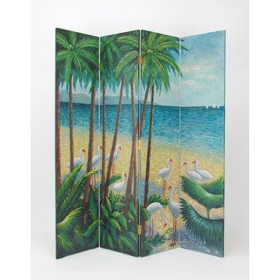 Beach 4 Panel Room Divider