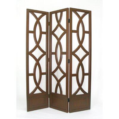 Emblem 3 Panel Room Divider Finish: Brown